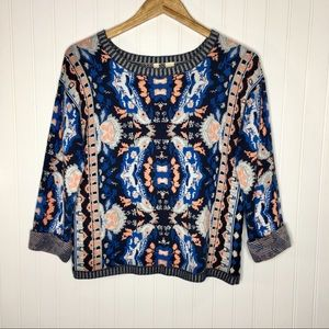 Moth Anthropologie Antica Parrot Sweater Size M